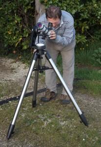 Paul using solar scope